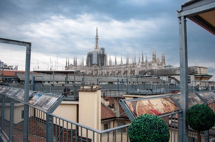 Partial view of the Duomo's rooftop- Galleria Vittorio Emanuele II, Milan, Italy - www.rossiwrites.com