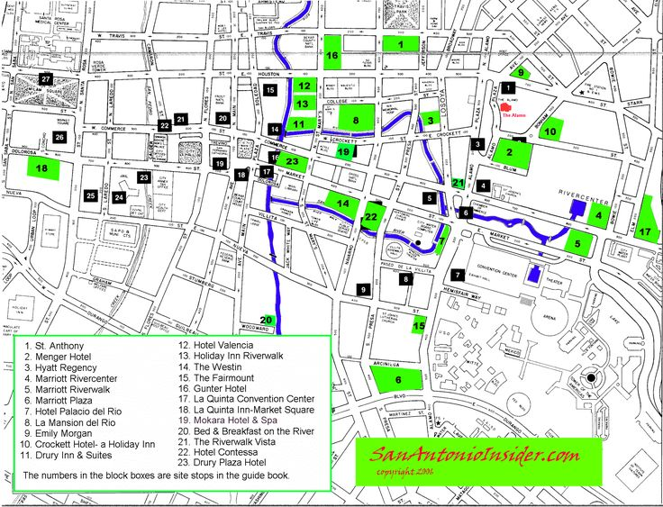 San Antonio Hotel Map Best Of Riverwalk Hotels Insider