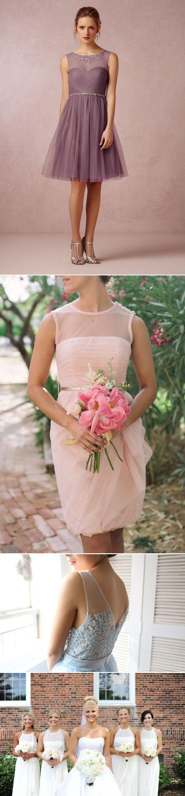 Top 8 Bridesmaid Dress Trends for Summer 2014 - Illusion Necklines