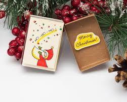 Bildergebnis für Christmas Card Matchbox