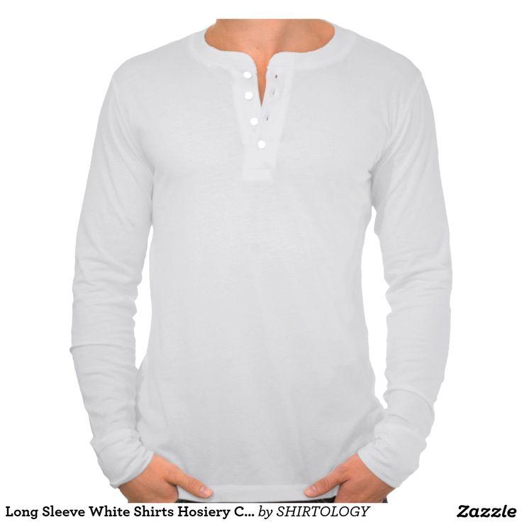 Long Sleeve White Shirts Hosiery Canvas Fleece