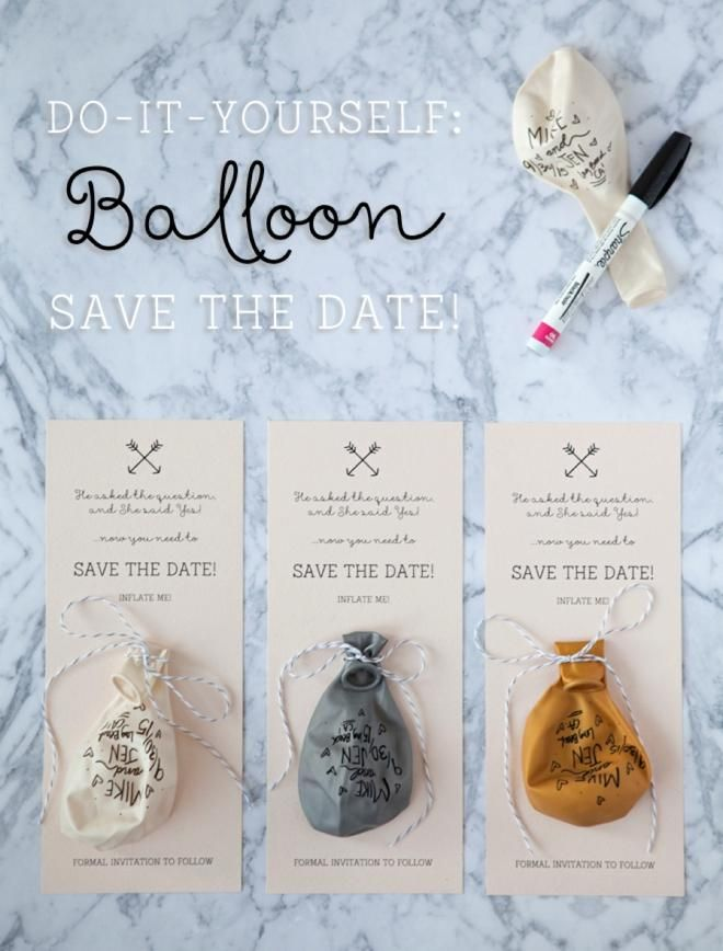 This is such a cute DIY for a wedding save the the date invitation.