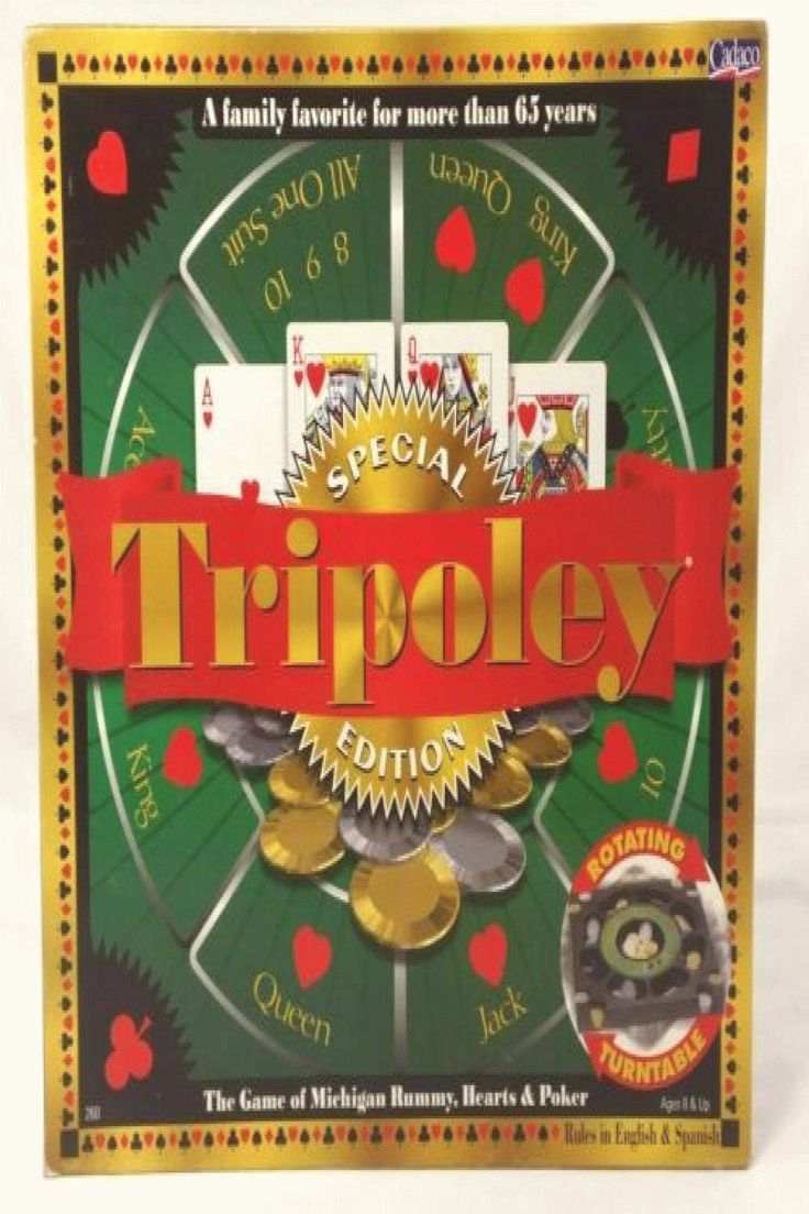 Special Edition Tripoley With Turntable Family Card Game ...