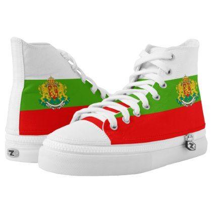 Bulgarian flag High-Top sneakers - pattern sample design template diy cyo customize