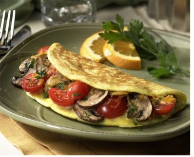 Easy cheese and onion omelette recipe