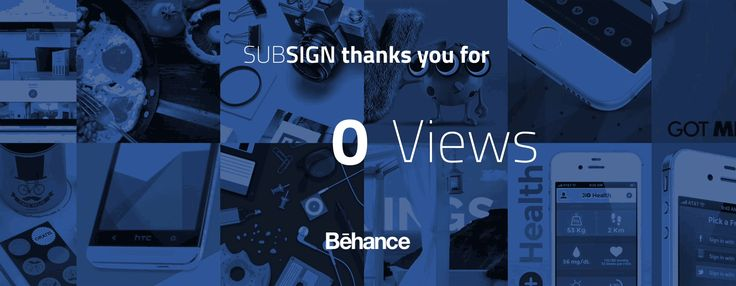 Thank you for all the attention! We promise to keep delivering great work, so don't be shy and hit follow! https://www.behance.net/subsign