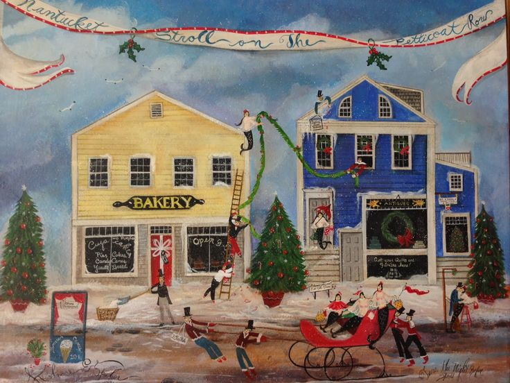 Christmas Stroll Nantucket, Nantucket island, Art