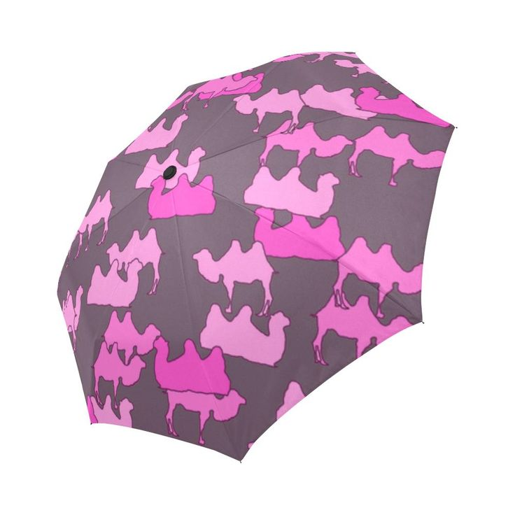 camelflage pink Auto-Foldable Umbrella