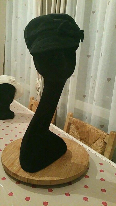 Casquette velours côtelé noire