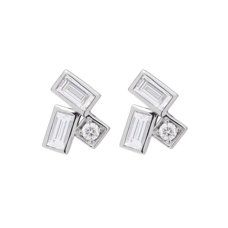 18CT DIAMOND GRETA STUD EARRINGS