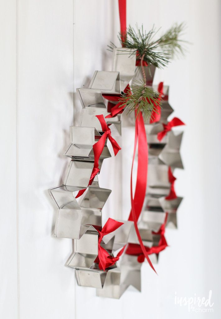 DIY Cookie Cutter Wreath   inspiredbycharm.com #IBCholiday