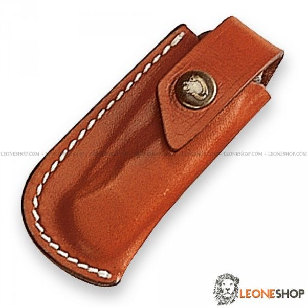 """Sheath for Knives FOX Italy, bags, cases and sheaths in Leather to take with you your folding knife - Lenght 3.5"""" - FOX Italy Leather sheath for knives really exceptional with quality materials, superior quality in all components, with strap closure and belt loop."""