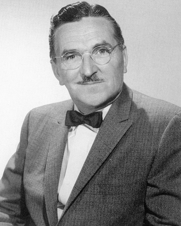 "Howard Mcnear as Floyd Lawson on ""The Andy Griffith Show"" and Doc Adams on the radio version of ""Gunsmoke."""