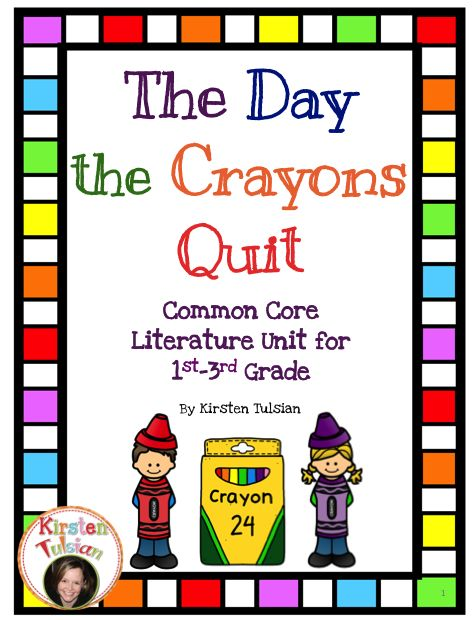 The Day the Crayons Quit by Drew Daywalt is the focus of this Common Core Literature Unit for 1st-3rd grade.