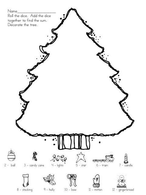 Winter Tree Roll the Dice