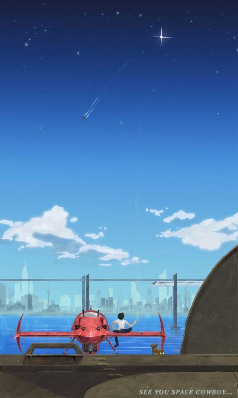 Spike And Ein Anime Cowboy Bebop Space Cowboys Anime