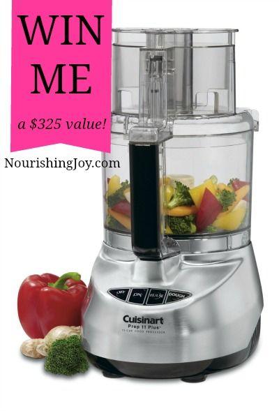 GIVEAWAY: 11-cup Cuisinart Food Processor ($325 value)   NourishingJoy.com