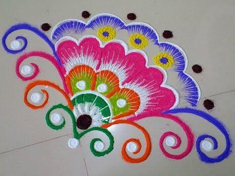 Sahasradala Padma - The 1000 Petals Lotus || Pooja Room Kolam - YouTube