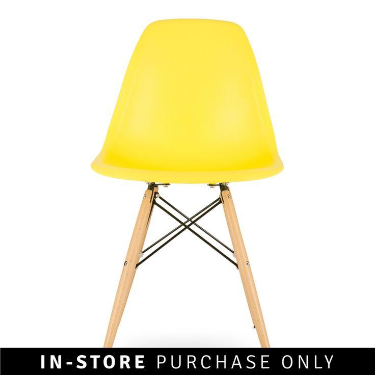 adam rocket dining chair yellow