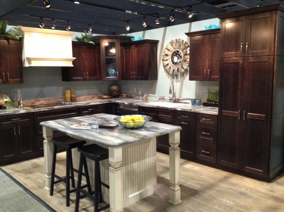 What Do You Think Of This New Java Finish? Our Display From The PA Home · Legacy  CabinetsCraft ...