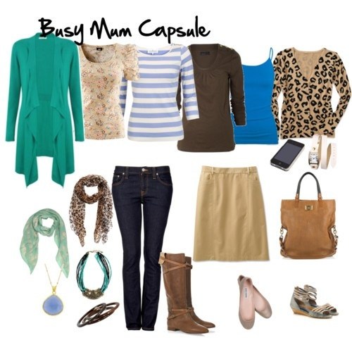 busy mom capsule, 20+ outfits from these 8 garments.