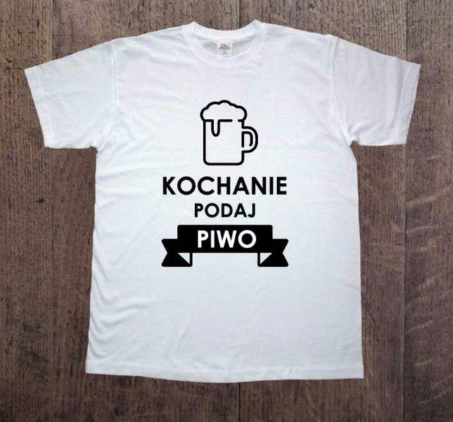 Piwo,+Męska+koszulka+z+nadrukiem,+w+DDshirt+na+DaWanda.com