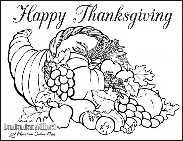 25 einzigartige Thanksgiving pictures to color Ideen auf