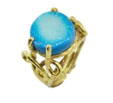 admirable Druzy Gold Plated Multi-Colour Ring suppiler US 6789