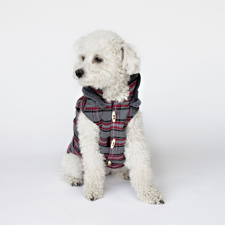 DESIGNER FLANNEL DOG COAT HUNTER