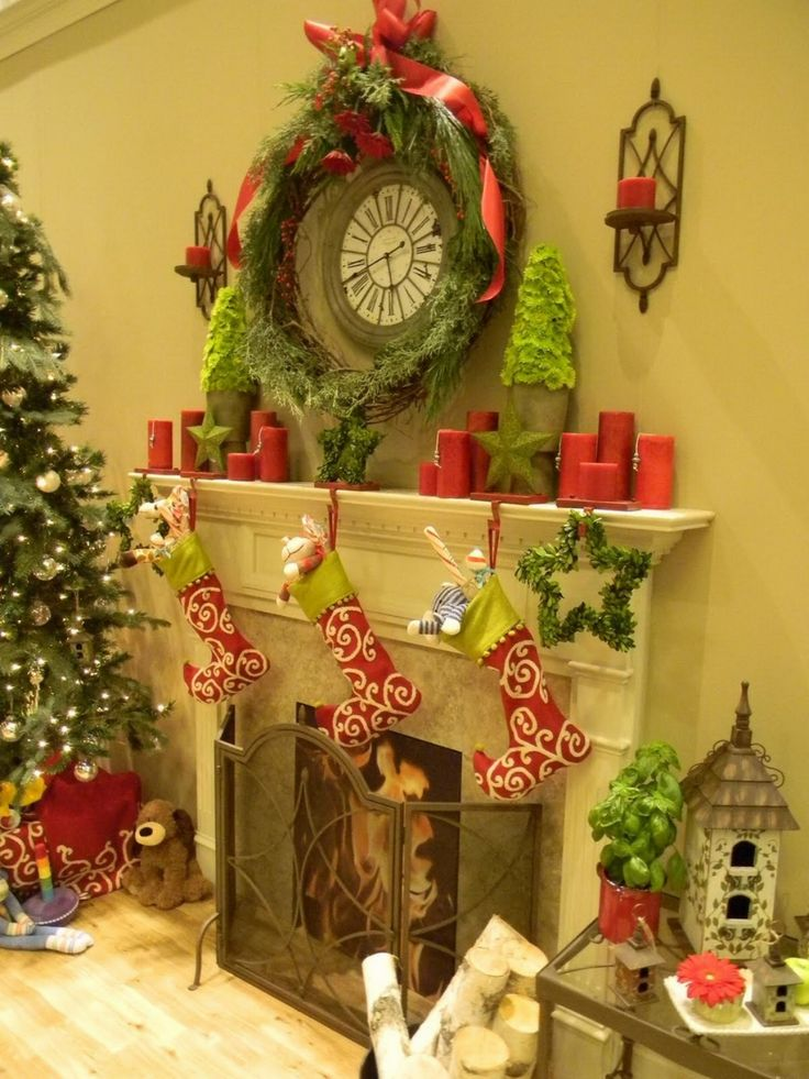 1134 Best Christmas Mantels Images On Pinterest