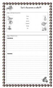 English Worksheets Writing A Cake Recipe Worksheets