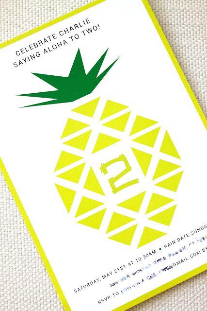 Pineapple party invite