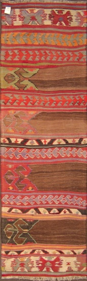 "Aydin kilim with camel hair, wool on wool, 2'6""x8'2"", from 1920's"