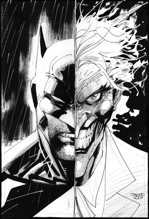 Batmanjoker By Jim Lee Batman Pinterest Batman Jim Lee And