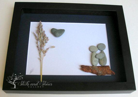 Unique Couple's Gift Personalized COUPLE'S Gift von SticksnStone