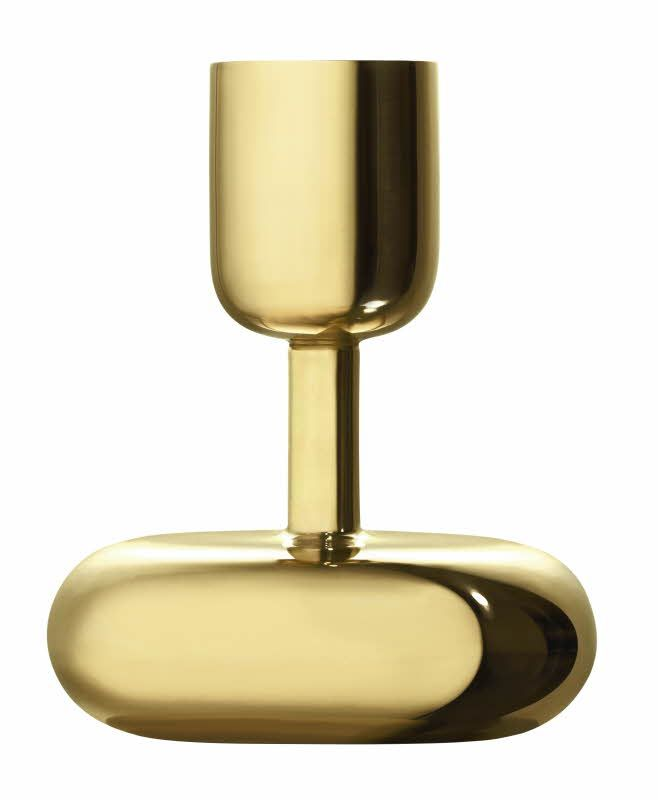 Iittala Nappula candleholder Brass 107mm