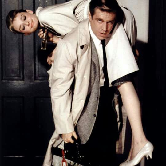 """Audrey Hepburn and George Peppard in """"Breakfast at Tiffany's"""", 1961"""