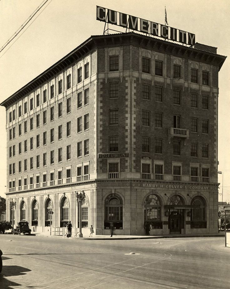 The Hotel Hunt Aka Culver City Circa 1924 California State Library Los Angeles Iv Pinterest Haunted And Wander