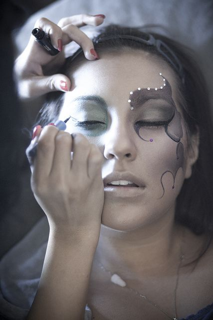 Be Beautiful by Nataly : halloween makeup by btmlinedan, via Flickr
