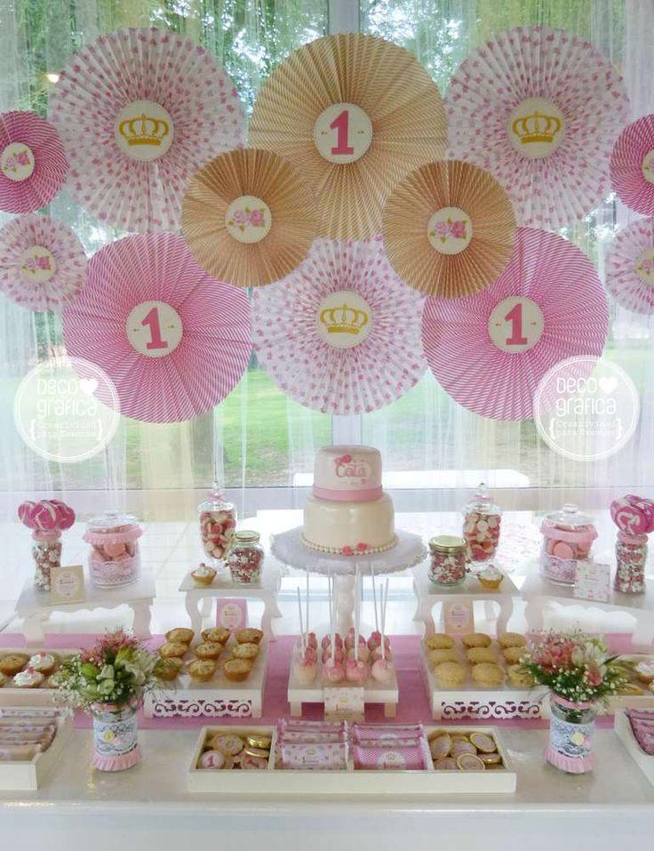 Las 25 mejores ideas sobre primer cumplea os de princesa - Decoracion cumpleanos bebe 1 ano ...