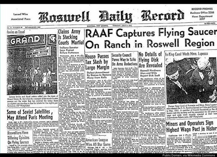 """Flying Disk"" crashed on a ranch in the New Mexico town of Roswell..........07/08/1947"