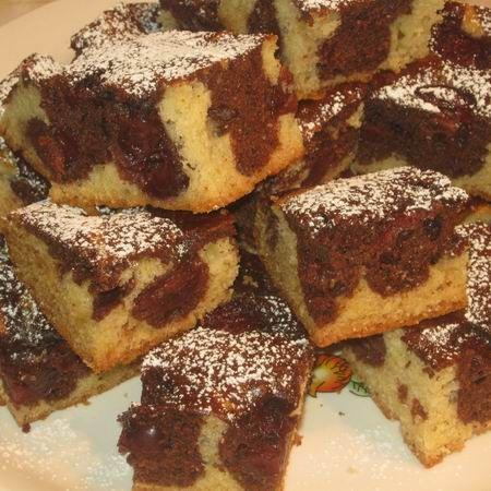 Márványos-meggyes kevert süti Recept képpel - Mindmegette.hu - Receptek