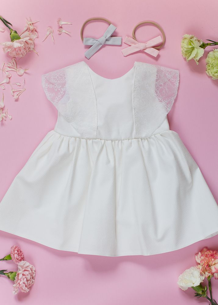 Click to shop. Hand tied bow. Pink. Silver. Girls outfit. Girls stuff. White dress. For special occassions. Baptism. Wedding. First Birthday. Hair accessories. Handmade. Lace dress. Ministyle. Hairclip. Headband.