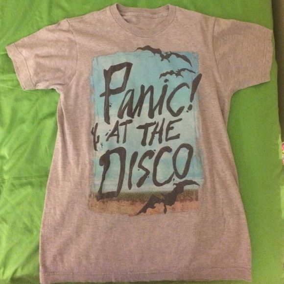 Panic! At The Disco Hot Topic Tee In great condition, size small (although it seems more like a medium to me), won't be able to ship for 3-5 days Hot Topic Tops Tees - Short Sleeve