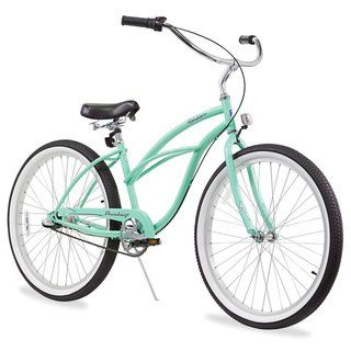 "26"" Firmstrong Urban Lady Three Speed Women's Beach Cruiser Bike, Mint Green"