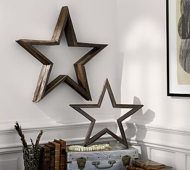 Milled Log Stars #potterybarn