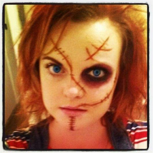Chucky costume makeup