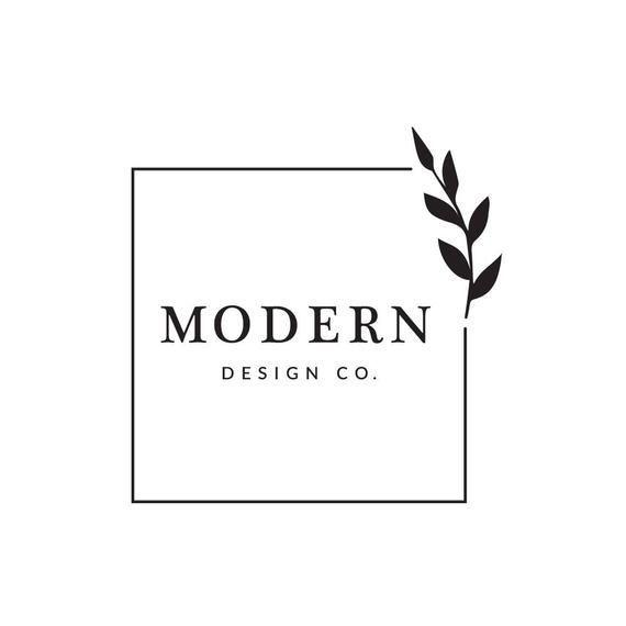 Premade Business Logo Modern Leaf Logo Square Interior Design