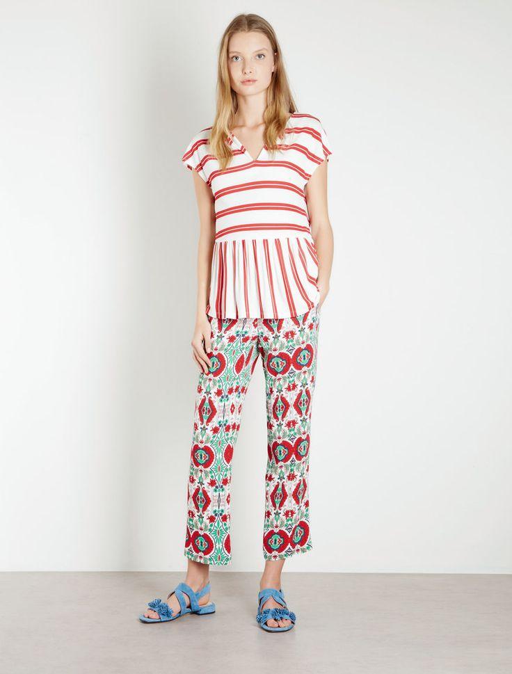Pantaloni stampati Marella