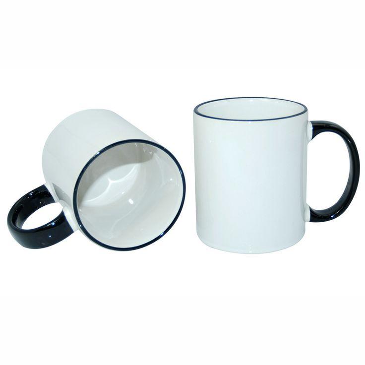 11oz Rim Handle Mug-Black  Dimension:Φ8.2*H9.5cm  Packing:36pcs/ Ctn  Colors Available:Black, Red, Maroon, Orange, Pink, Yellow, Light Blue, Dark Blue, Light Green, Dark Green  Material:High Grade Porcelain Stone  Meas:410*270*310mm  Weight:14.5kg/Ctn  Black Rim handle Mug, color in rim and handle. Popular color mug, 11 different colors available
